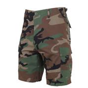 Woodland Camo BDU Military Shorts - View