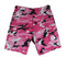 Pink Camo BDU Military Shorts - Flat View