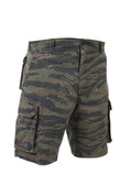 Vintage Tiger Stripe Army Field Shorts - Full Front View