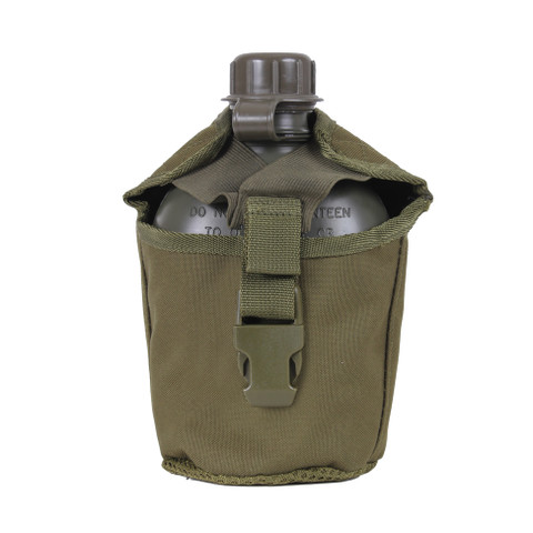 Molle Compatible Canteen Cover - OD Front View