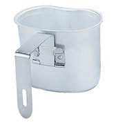 Aluminum Folding Handle Canteen Cup - Open View
