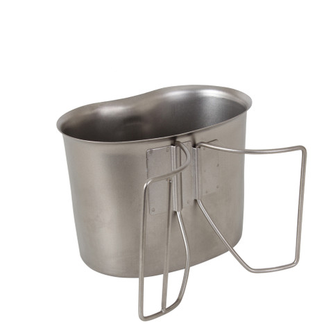 GI Style Stainless Steel Canteen Cup - Open View