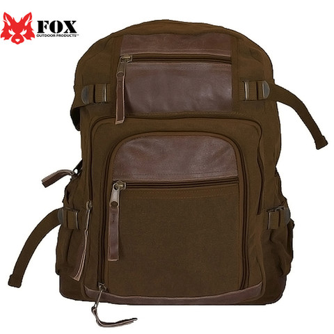 Vintage Retro Londoner Commuter Daypack - Fox View