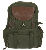 Vintage Olive Green Retro Parisian City Daypack - View