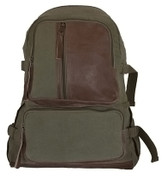 Vintage Retro Airman's Backpack - Olive