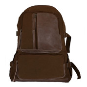 Vintage Brown Retro Airman's Backpack - View