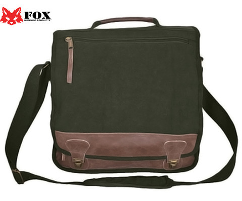 Vintage Euro Retro Messenger Bag - Fox View