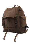Vintage Brown Expedition Rucksack - Front View