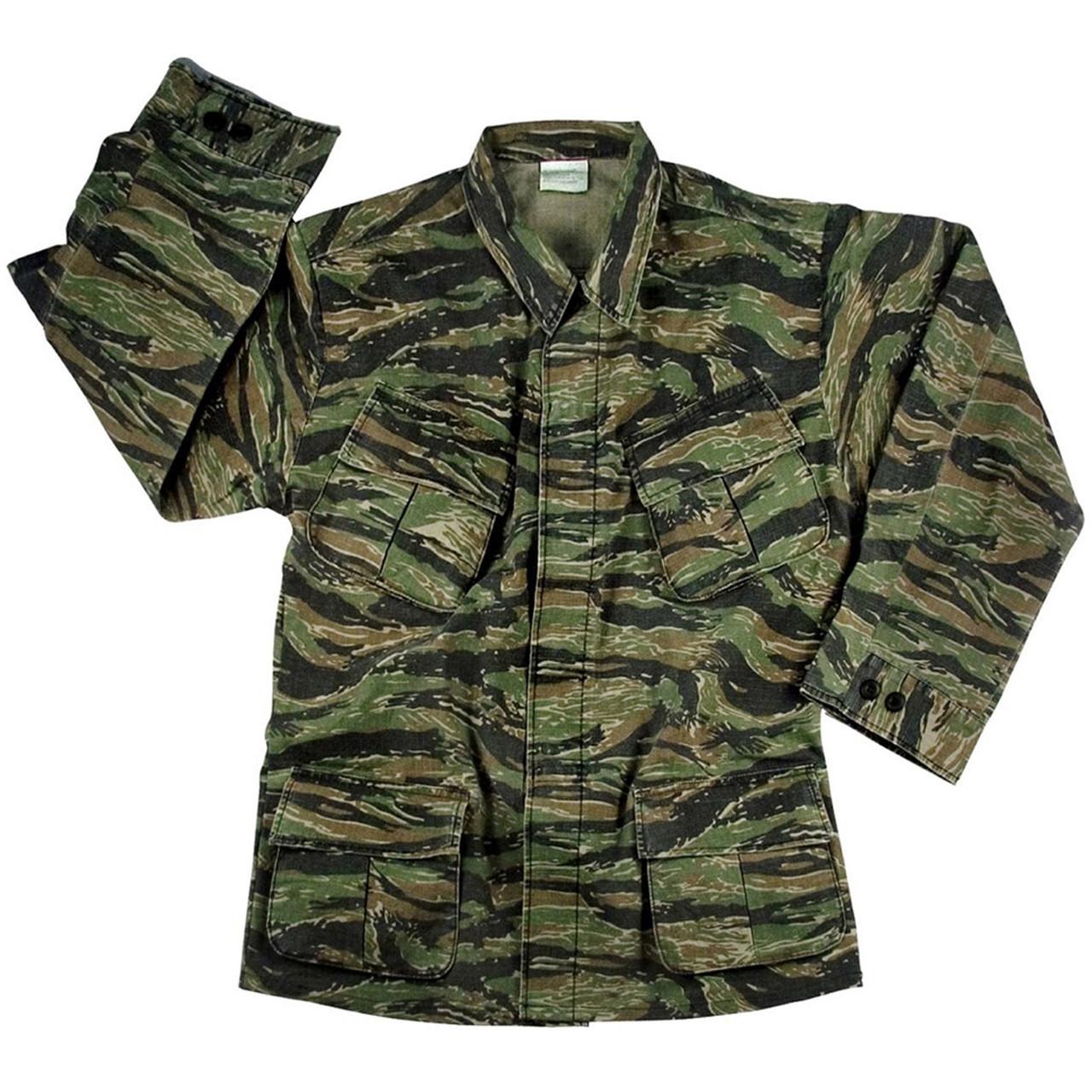 a5419d2560a Shop Vintage Vietnam Tiger Stripe Jungle Jackets - Fatigues Army Navy Gear