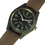 Olive Drab Quartz Field Watch