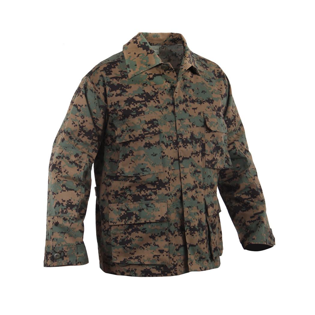 c6147b941da70 Shop Woodland Digital Camo BDU Jacket - Fatigues Army Navy Gear
