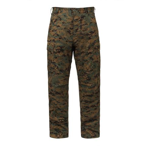 Woodland Digital Camo BDU Fatigue Pants - Front View