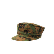 Woodland Digital Camo Marine Cap - View