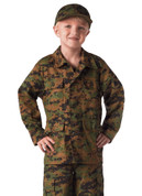 Kids Camo Woodland Digital Jacket  - View Front