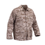USMC Style Desert Digital Camo BDU Jackets - Right Side View