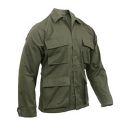 Rothco Olive Drab BDU Fatigue Jacket - View