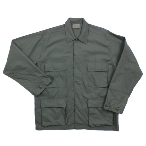 Olive Drab Ripstop Cotton BDU Fatigue Jacket - View