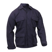 Navy 100% Ripstop Cotton BDU Fatigue Jacket - View