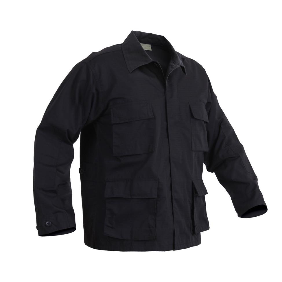 1db6ee20063 Rothco Black BDU Fatigue Jacket - Poly/Cotton