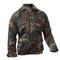 Woodland Camo Poly/Cotton BDU Fatigue Jacket - Side View