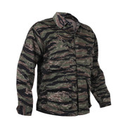 Tiger Stripe Camo BDU Fatigue Jacket - Front View