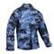 Sky Blue Camo BDU Fatigue Jacket - View