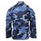Sky Blue Camo BDU Fatigue Jacket - Back View