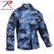 Sky Blue Camo BDU Fatigue Jacket - Rothco Brand
