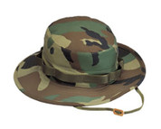 Woodland Camo Military Boonie Hat  - Full View