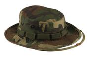 Woodland Camo Military Vintage Boonie Hat