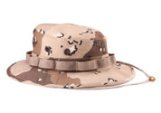 Six Color Desert Camo Military Boonie Hat - View