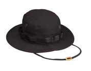 Black Ripstop Cotton Military Boonie Hat - Full View