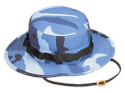 Sky Blue Camouflage Military Boonie Hat - View
