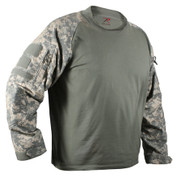 ACU Digital Camo Combat Shirt - Front View