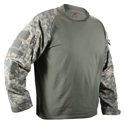 ACU Digital Camo Combat Shirt - Front View