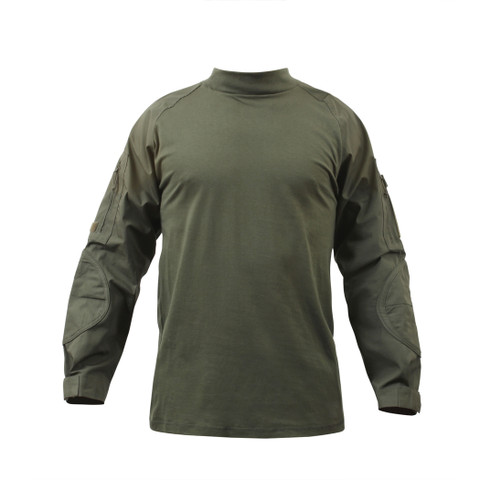 Olive Drab Combat Shirt - Full Front View
