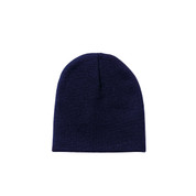 Deluxe Navy Knit Skull Cap - View
