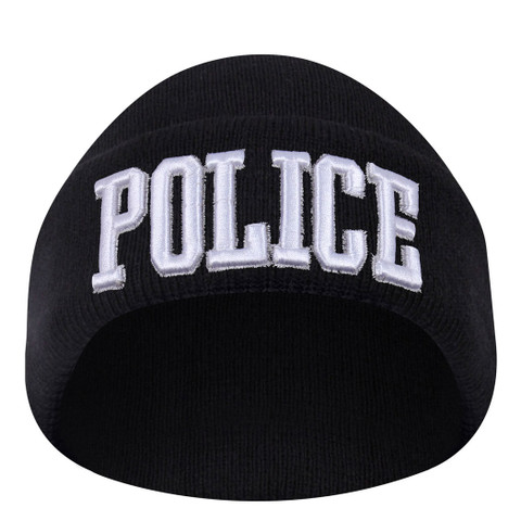 Deluxe Embroidered Police Watch Cap - View