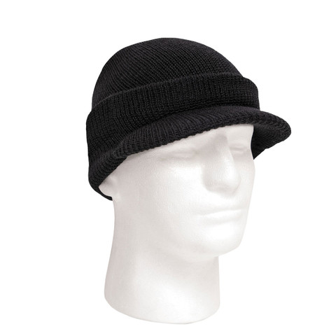 Military Wool Jeep Cap - Black
