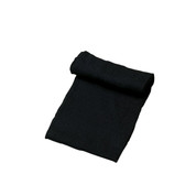 Military Black Wool Scarf - Made in USA  View