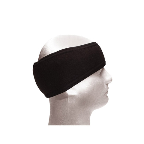 Double Layer Black Polypro Headband  - View
