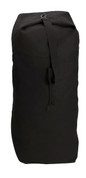 Black Heavyweight Canvas Small Top Load Duffle Bag - View