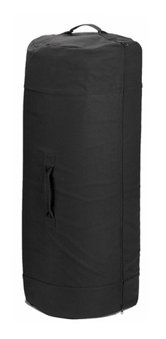 "Black Heavy Canvas 50""Jumbo Zipper Duffle Bag - View"