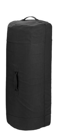 "Black Heavy Canvas 42""Large Side Zipper Duffle Bag - View"