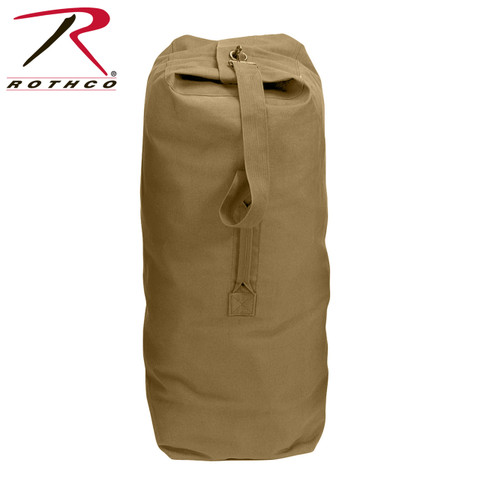 Coyote Brown Large Top Load Duffle Bag - Rothco View
