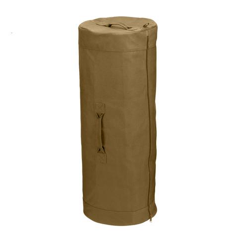 Shop Coyote Brown Zipper Canvas Duffle Bag - Fatigues Army Navy Gear 339ac9515c1fb