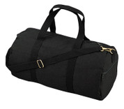 Black Canvas Sports Shoulder Bag - View