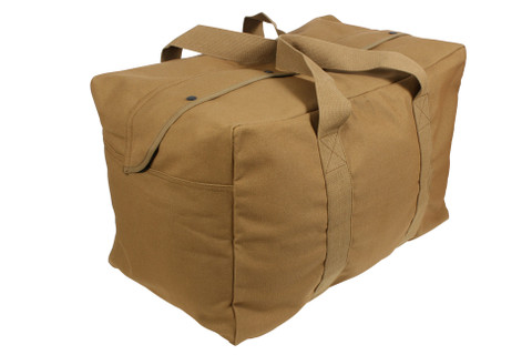 Coyote Brown Canvas Parachute Cargo Bags - View