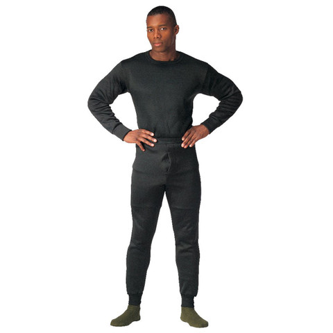 Black Extreme Cold Weather Polypro Crew Neck Shirt - View