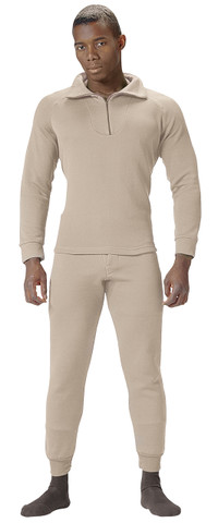Sand Extreme Cold Weather Polypro Zip Collar Shirt - View